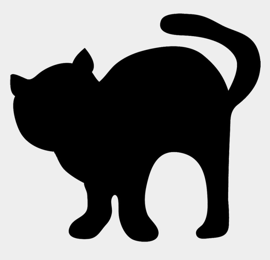 cat clip art, Cartoons - Black Silhouette Of Cat - Cute Halloween Black Cat Silhouette