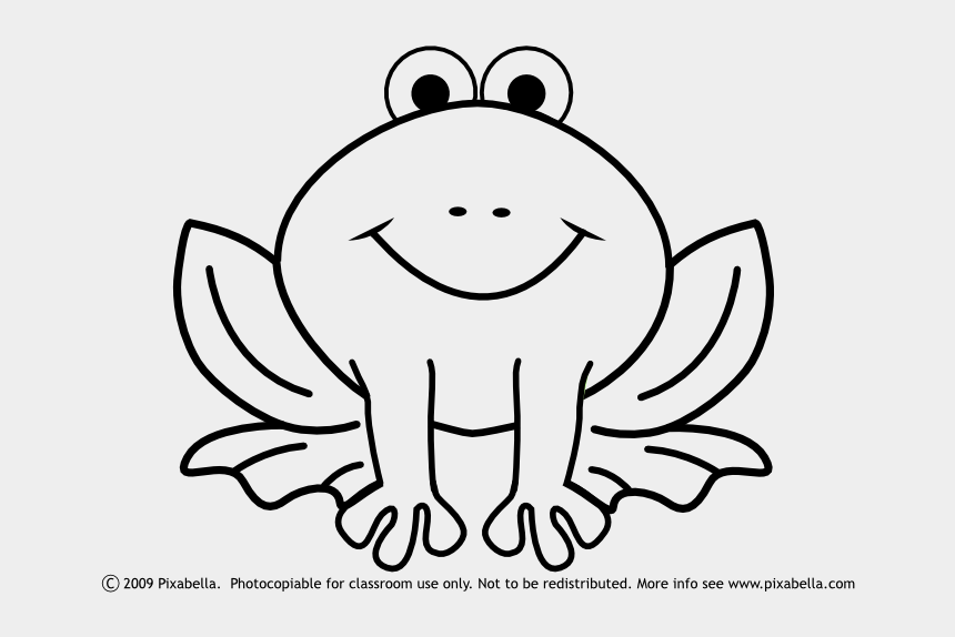 frog clipart, Cartoons - Easy Frog Coloring Page