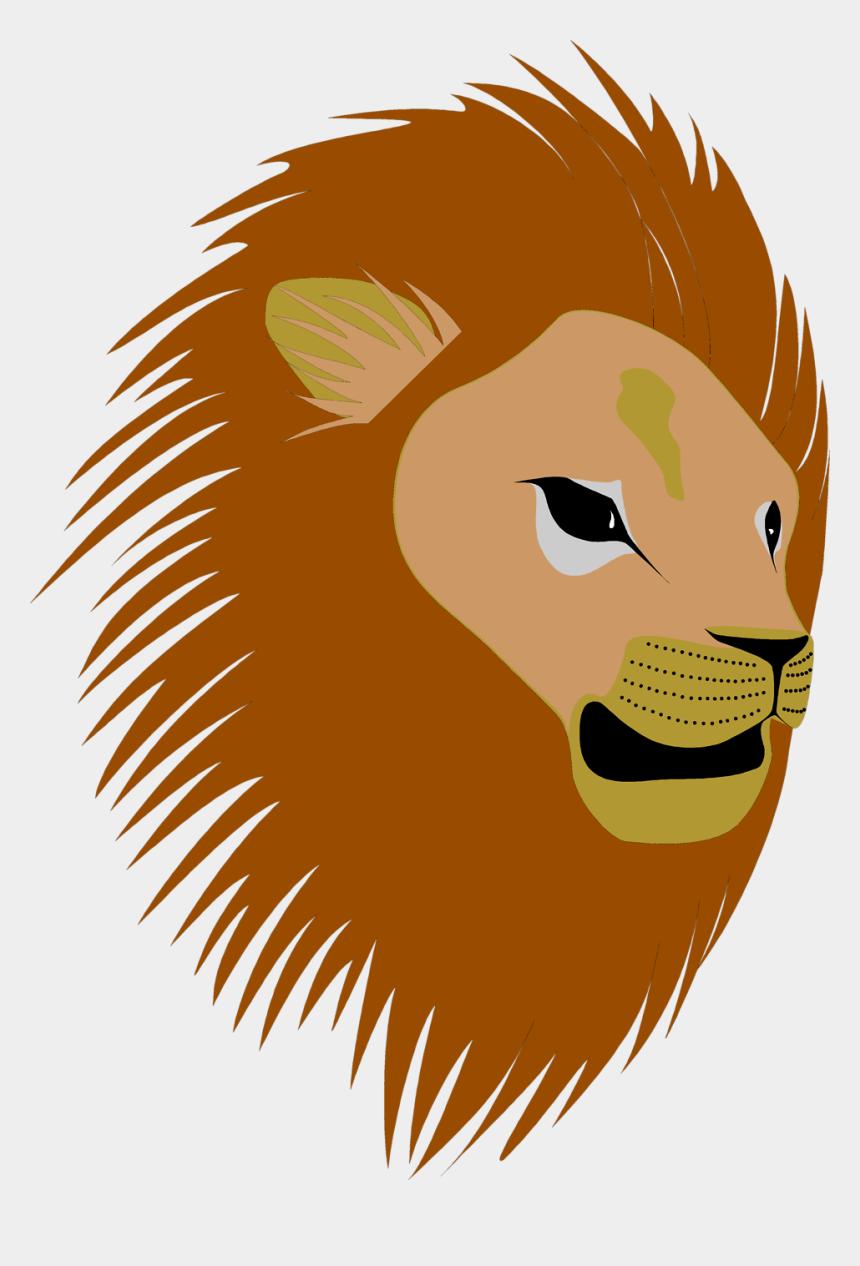 lion clipart, Cartoons - Baby Lion Png - Cartoon Lion Head No Background