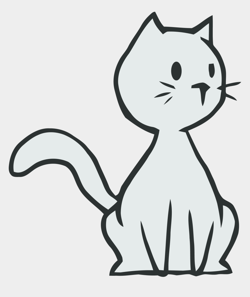 cat clipart, Cartoons - Thinking Cat Clipart Png - Easy To Draw Cartoon Cats