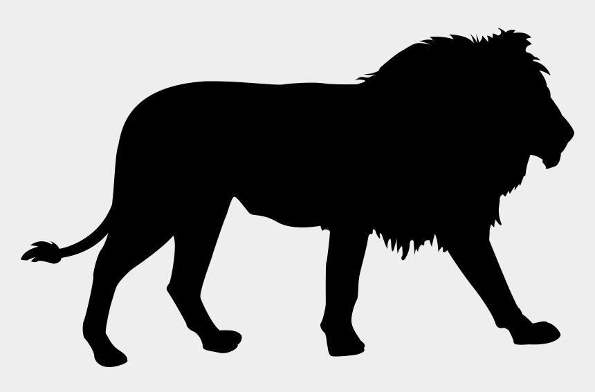 lion clipart, Cartoons - Clipart Of Lion, Lion Free And Big Lion - Jungle Animal Silhouette Animals
