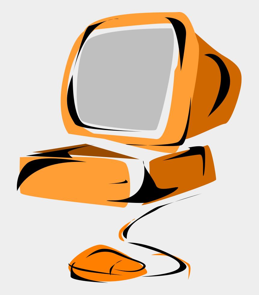 computer clipart, Cartoons - Computer 05 Clipart, Vector Clip Art Online, Royalty - Orange Computer Clipart