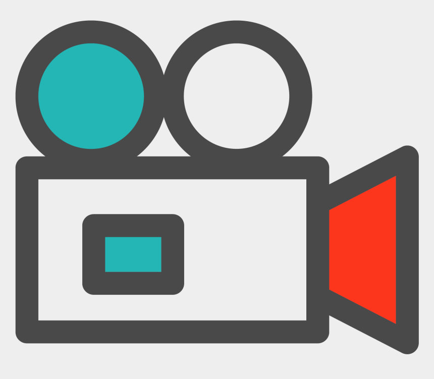 camera clip art, Cartoons - Film Camera Clipart - Video Camera Icon Png