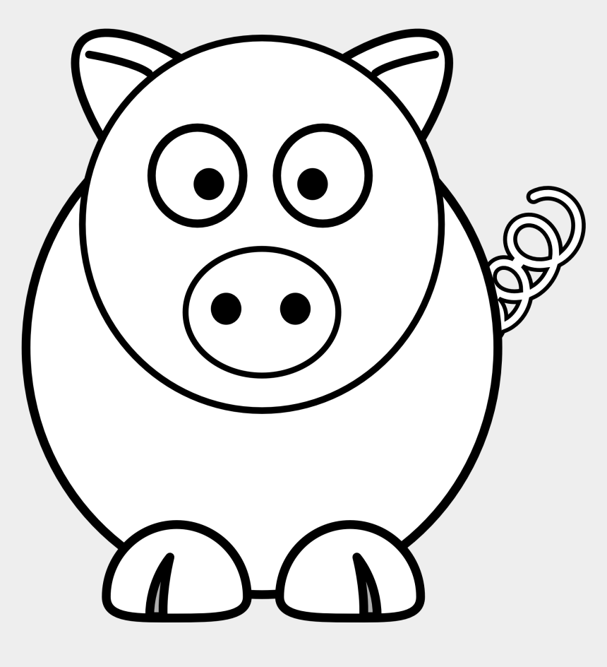 Black And White Pig Clipart No Background Collection Cute Animal Drawing Easy Cliparts Cartoons Jing Fm