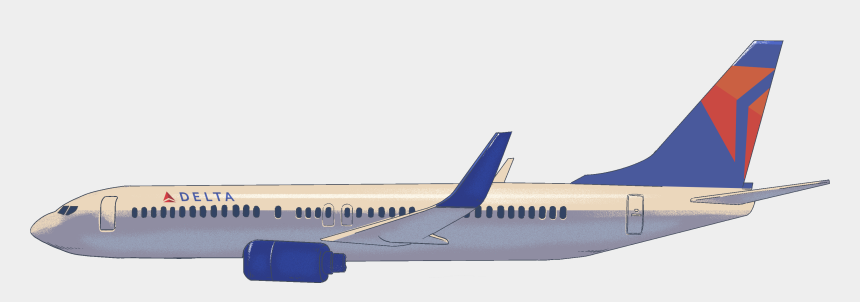 airplane clipart, Cartoons - Delta Airplane Clipart , Png Download - Boeing 737 Next Generation