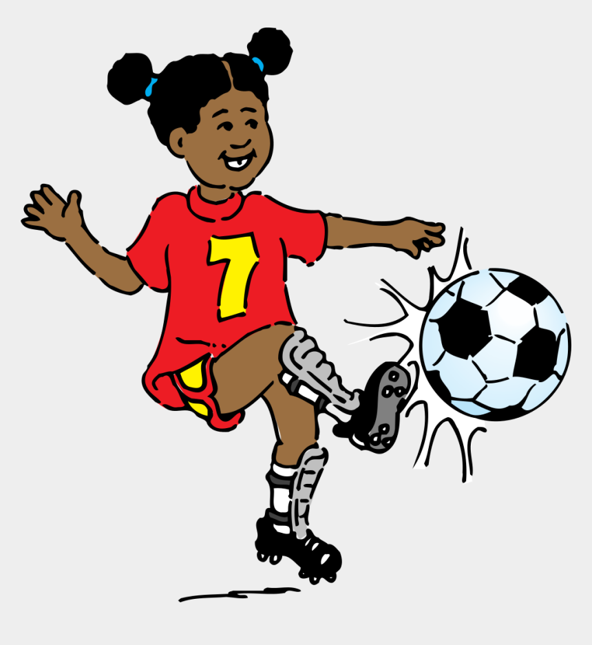 football clipart, Cartoons - Football Clipart - Clipart Girl Playing Soccer