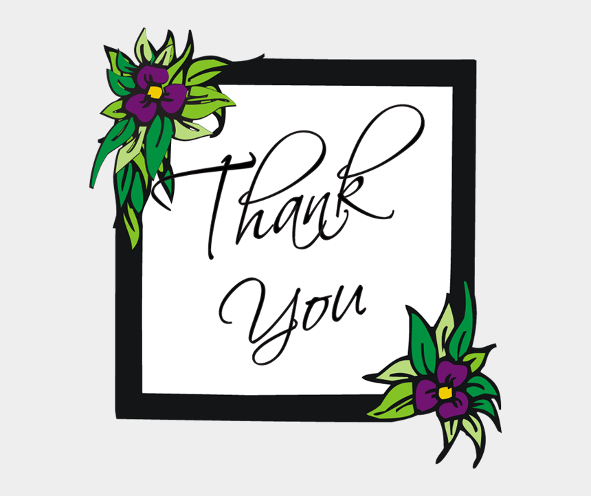 thank you clipart, Cartoons - Thank You With Flowers Clipart