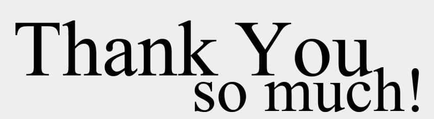 thank you clipart, Cartoons - Thank You Clip Art Free Clipart - Thank U So Much Png