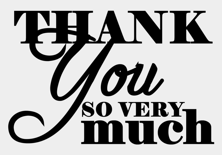thank you clipart, Cartoons - Png Thank You So Much