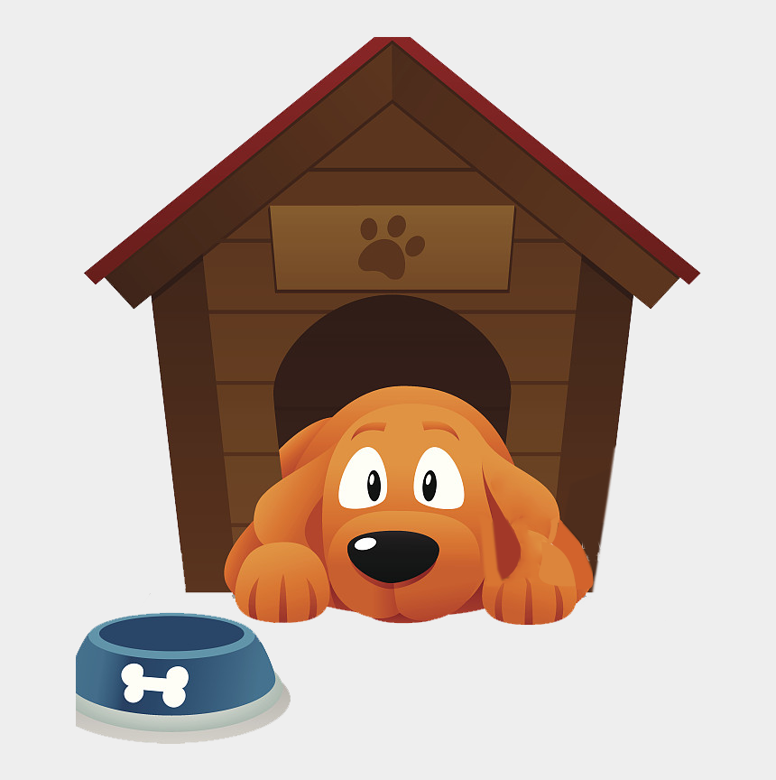 dog clipart, Cartoons - Dog Houses Pet Sitting Kennel Clip Art - Dog In Doghouse Clipart