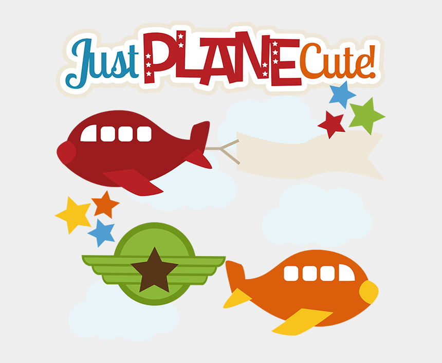 airplane clipart, Cartoons - Just Plane Cute Svg Files For Scrapbooking Cardmaking - Clipart Cute Airplane