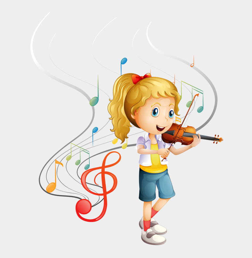 music clipart, Cartoons - Personnages, Illustration, Individu, Personne, Gens - Play The Violin Clipart