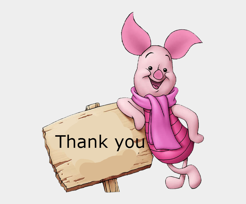 thank you clipart, Cartoons - Hello I Come Tell You That I Winniepedia Spanish Version - Piglet Hd