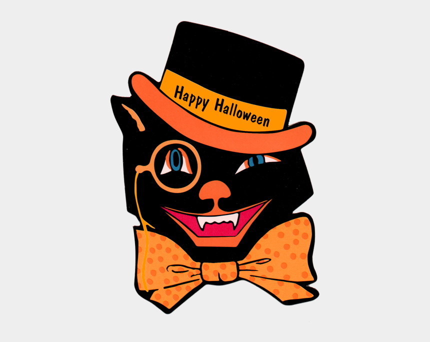 halloween clipart, Cartoons - Vintage Halloween Clip Art - Vintage Halloween Printables To Frame