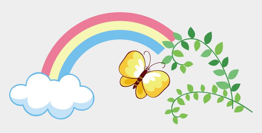 butterfly clipart, Cartoons - Rainbow Butterfly Clipart Png Text - Rainbow Butterflies Clipart