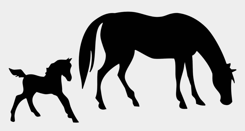 horse clipart, Cartoons - Free Mare And Foal Horse Clipart - Foal Horse Silhouette