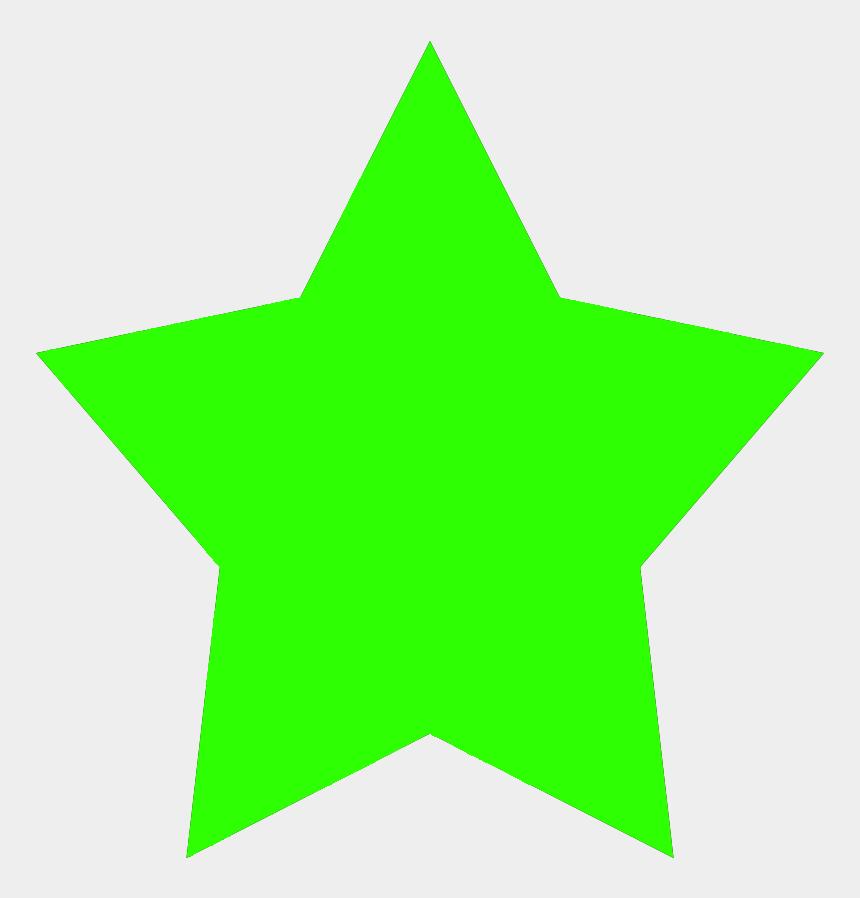 star clipart, Cartoons - Green 5-pointed Star - Green Star Clip Art