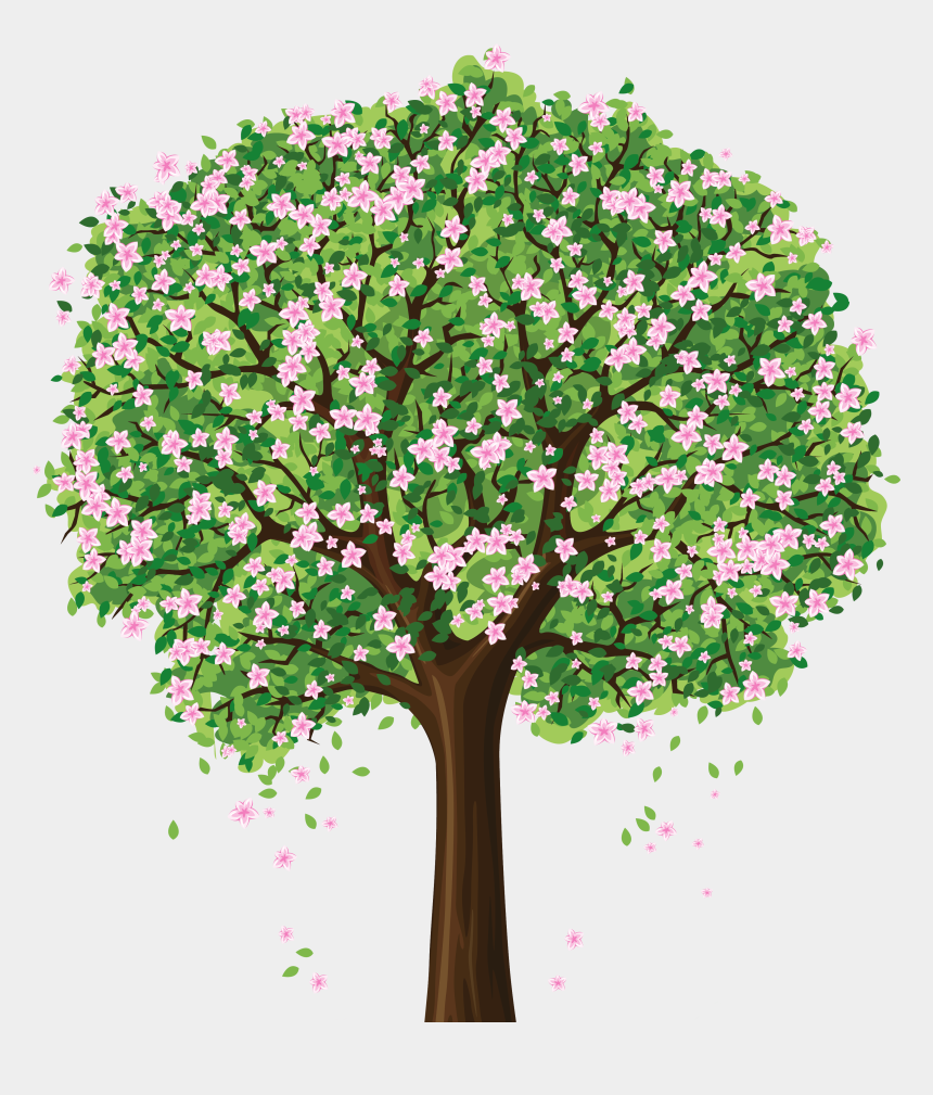 spring clipart, Cartoons - Spring - Tree With Flowers Clip Art