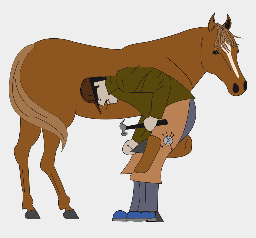 horse clipart, Cartoons - Download - Shoeing A Horse Clipart