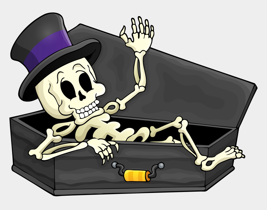 halloween clipart, Cartoons - Collection Of Free Skeleton High Quality Ⓒ - Skeleton In Coffin Cartoon