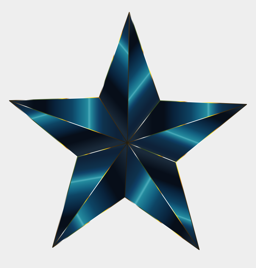 openclipart, Cartoons - Prismatic Star 13 By @gdj, Prismatic Star 13, On @openclipart - Transparent Background Star Icon