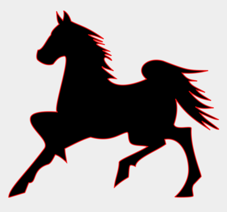 horse clipart, Cartoons - Clipart Of Aj, Horse To And Horse For - Dark Horse Outline