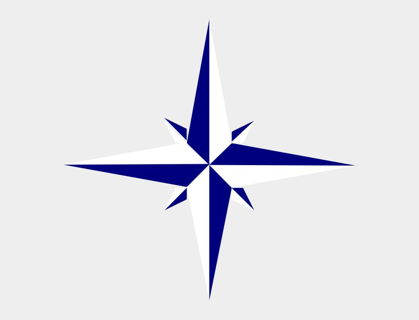 star clipart, Cartoons - Gray Compass Star Clip Art - Compass Star Png