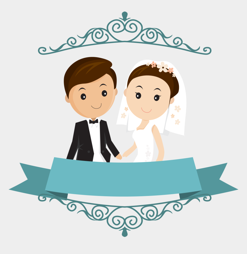 wedding clipart, Cartoons - Wedding Free Png Images - Wedding Couple Cartoon Png