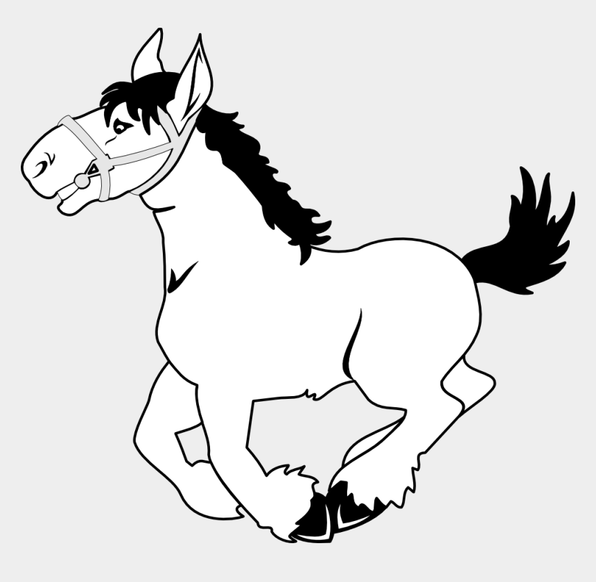horse clipart, Cartoons - Horse Clip Art Black And White Clipart - Free Clipart Black And White Horse