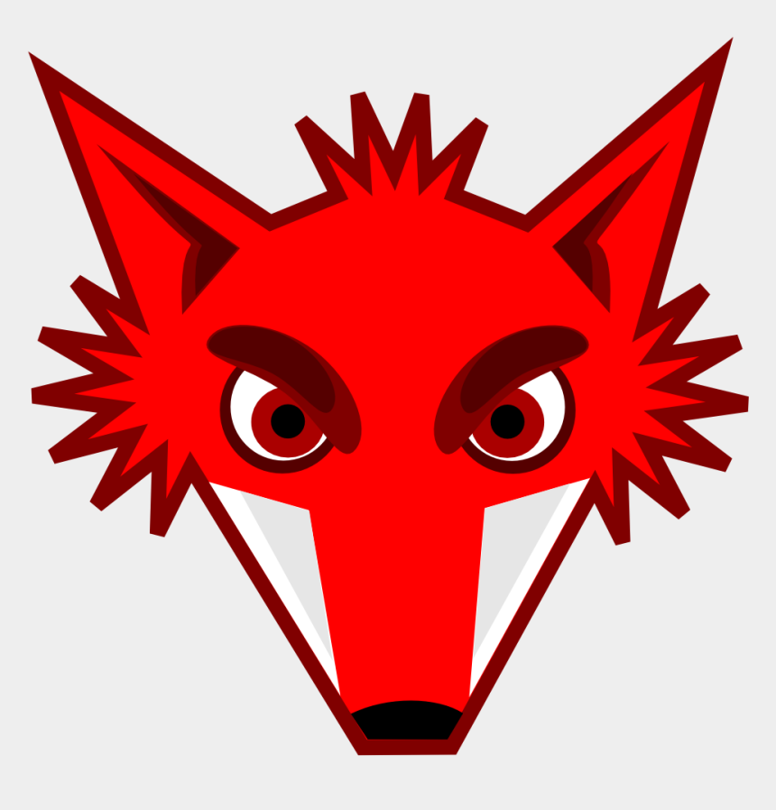 animal clipart, Cartoons - Cartoon Fox Head