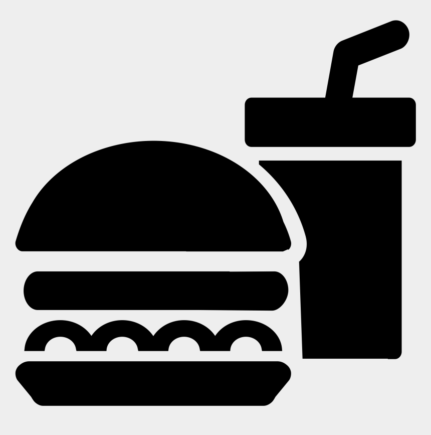 food clipart, Cartoons - Fast Food Icon - Food Icon Black And White