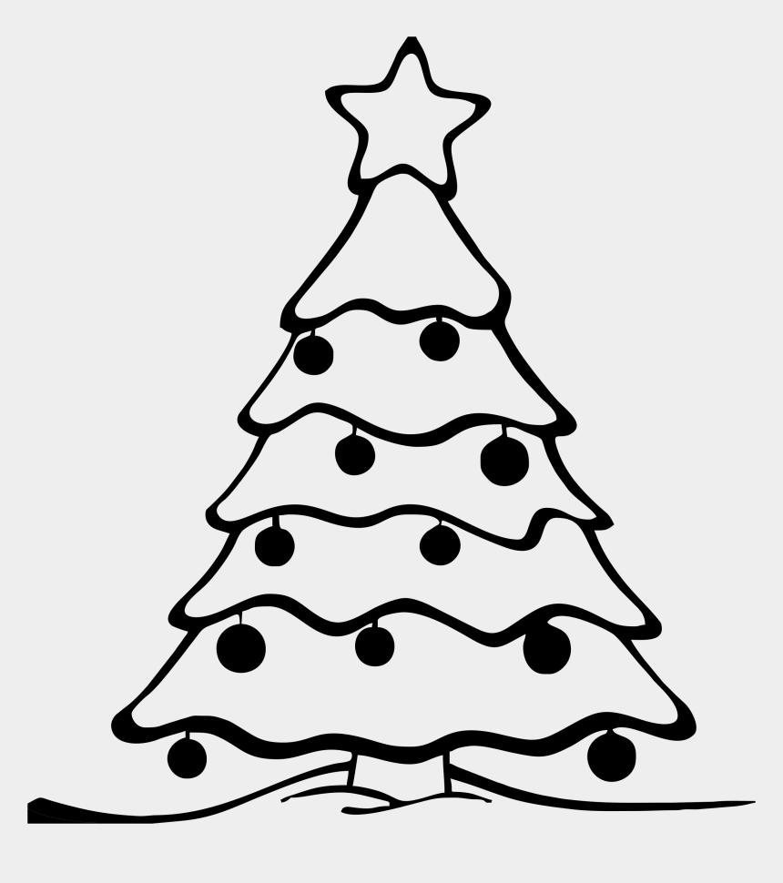 christmas tree clipart, Cartoons - Christmas Tree Black And White Christmas Tree Clipart - Colour In Christmas Tree