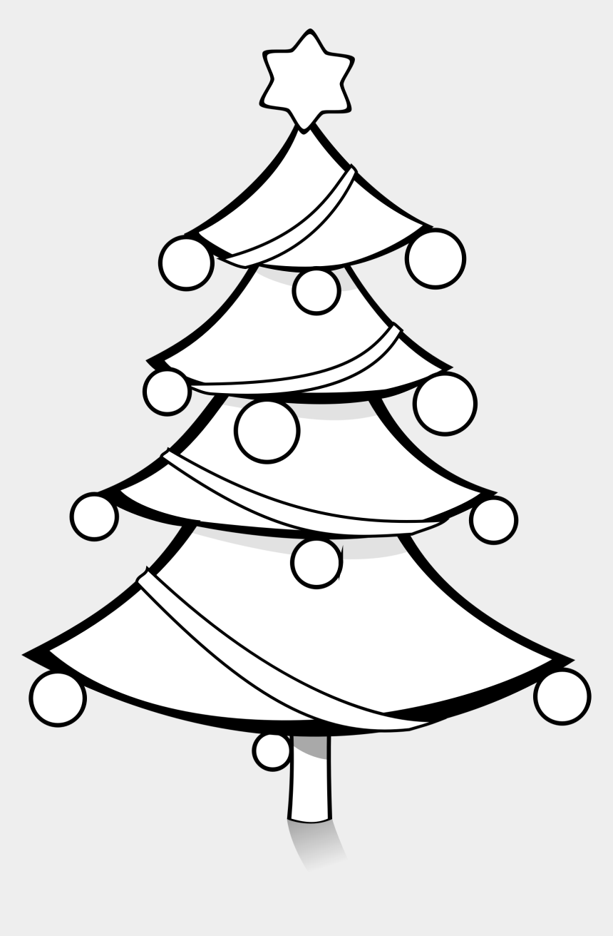 christmas tree clipart, Cartoons - Christmas Tree Black And White Black And White Xmas - Christmas Tree Png Black And White