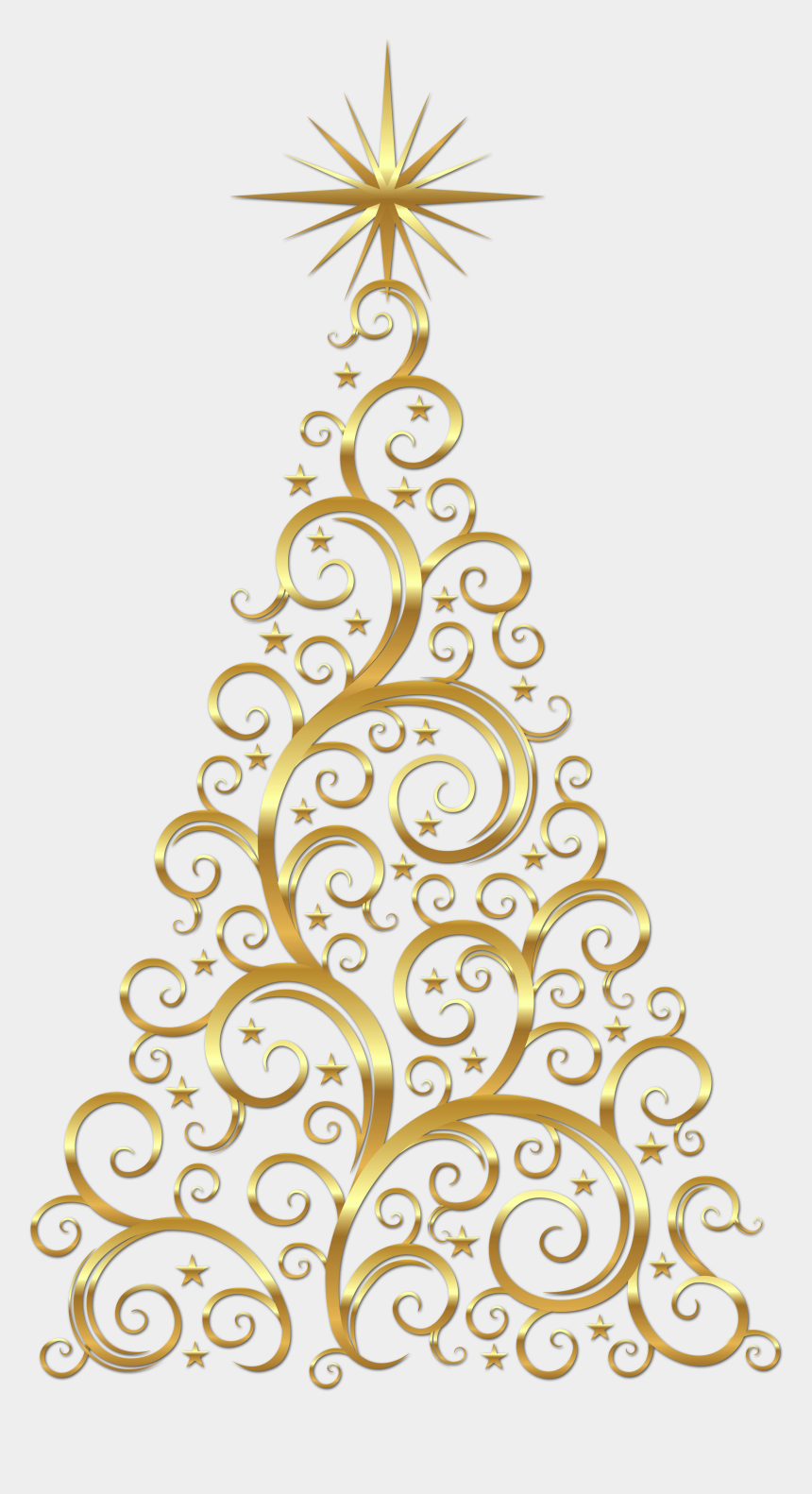 christmas tree clipart, Cartoons - Christmas Tree Clip Art - Gold Christmas Tree Clipart