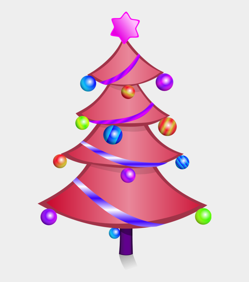 christmas tree clipart, Cartoons - Cartoon Pink Christmas Tree Character - Christmas Activity Book Cover