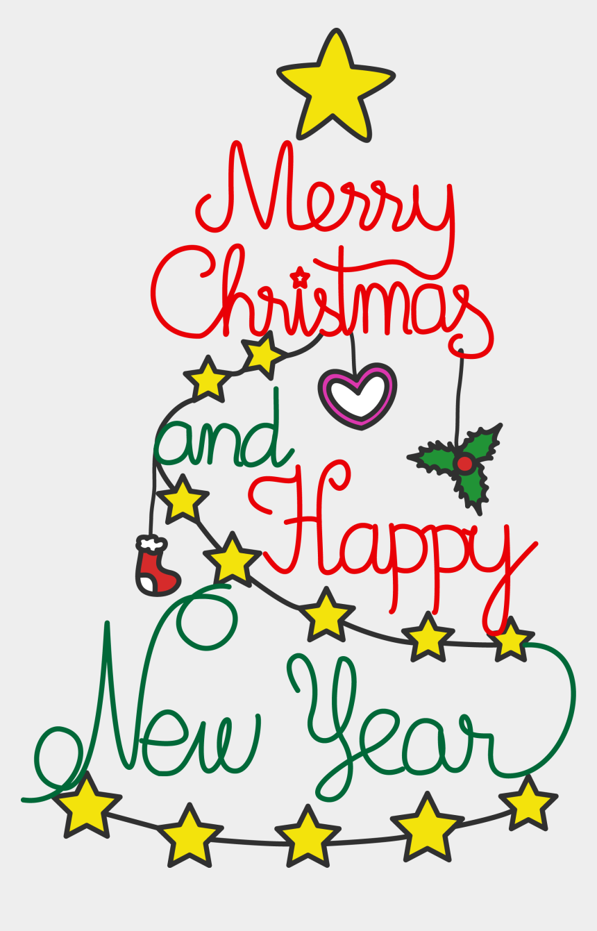 free christmas clip art, Cartoons - Merry Christmas Clipart Small - Png Merry Christmas And Happy New Year 2019