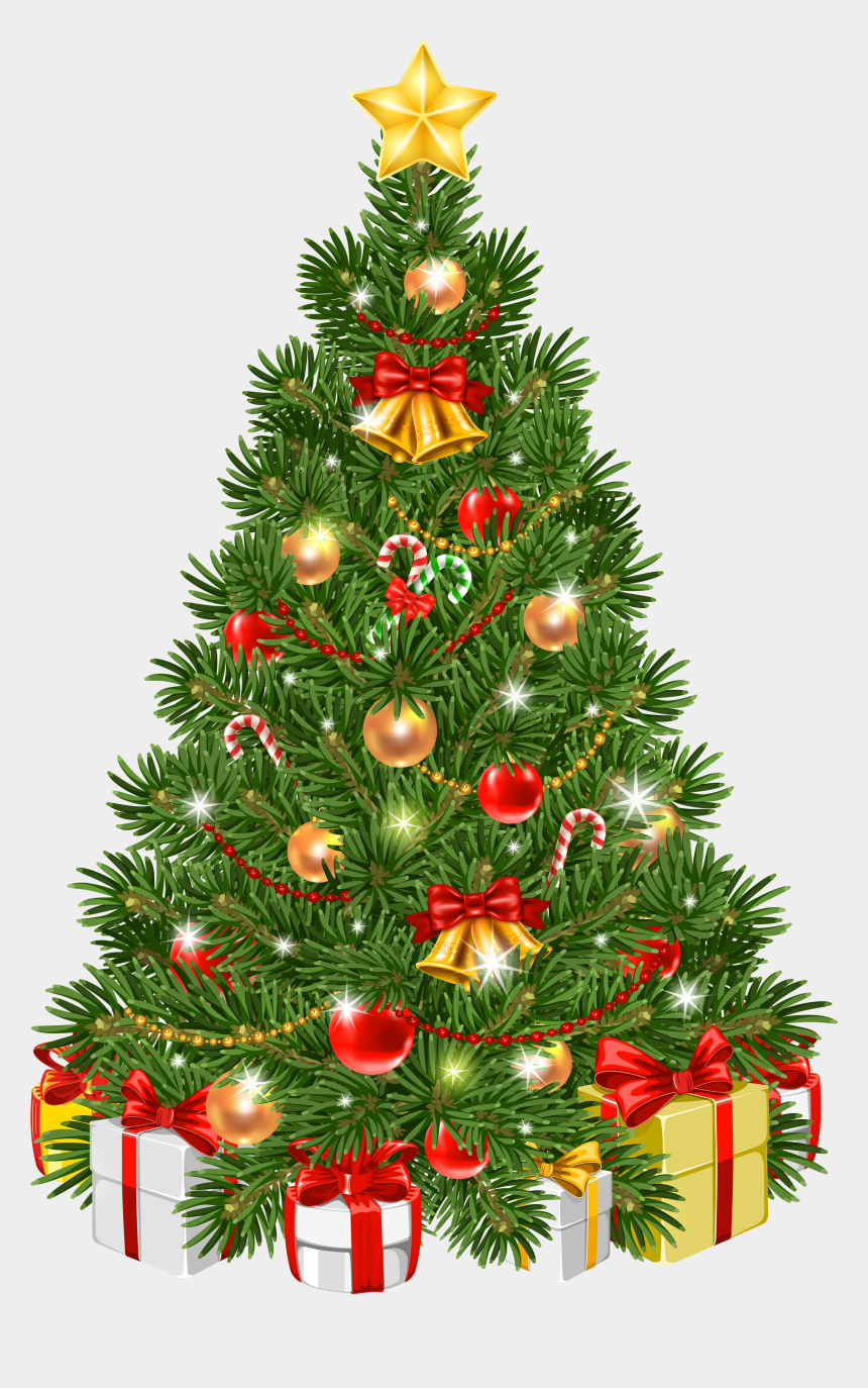 christmas tree clipart, Cartoons - Decorated Transparent Png Clip Art Image Gallery Ⓒ - Christmas Tree Clipart Hd