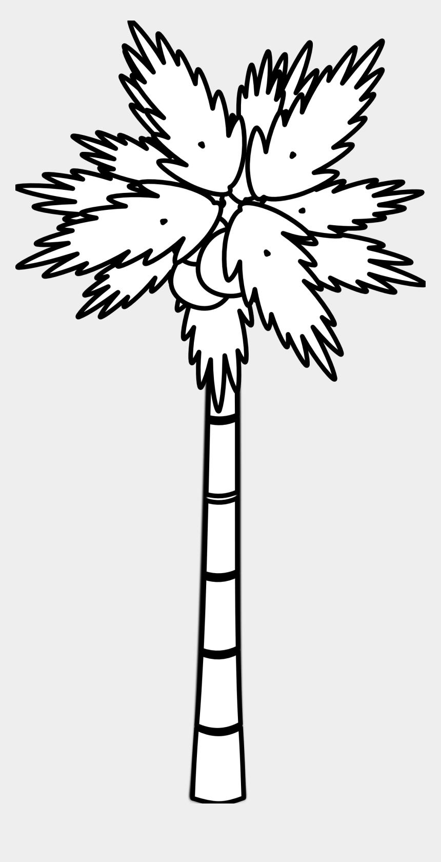 tree clipart, Cartoons - Black And White Family Tree - Coconut Tree In Black And White