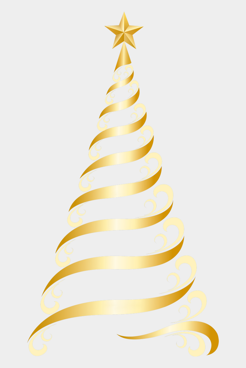christmas tree clipart, Cartoons - Gold Christmas Tree, Christmas Images, Christmas Words, - Gold Christmas Tree Vector Png