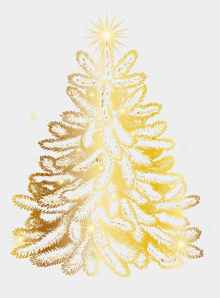 christmas tree clipart, Cartoons - Christmas Tree Clipart, Christmas Cards, Gold Christmas, - Xmas Clipart Gold Tree