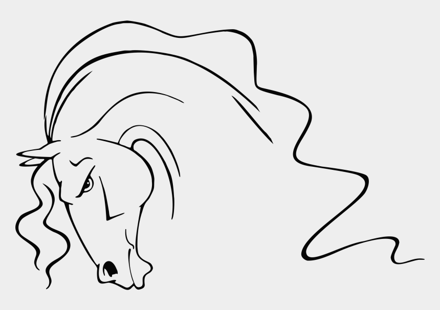 ears clip art, Cartoons - Horse Line Art Drawing Ear Free Commercial Clipart - Stylized Horse Head