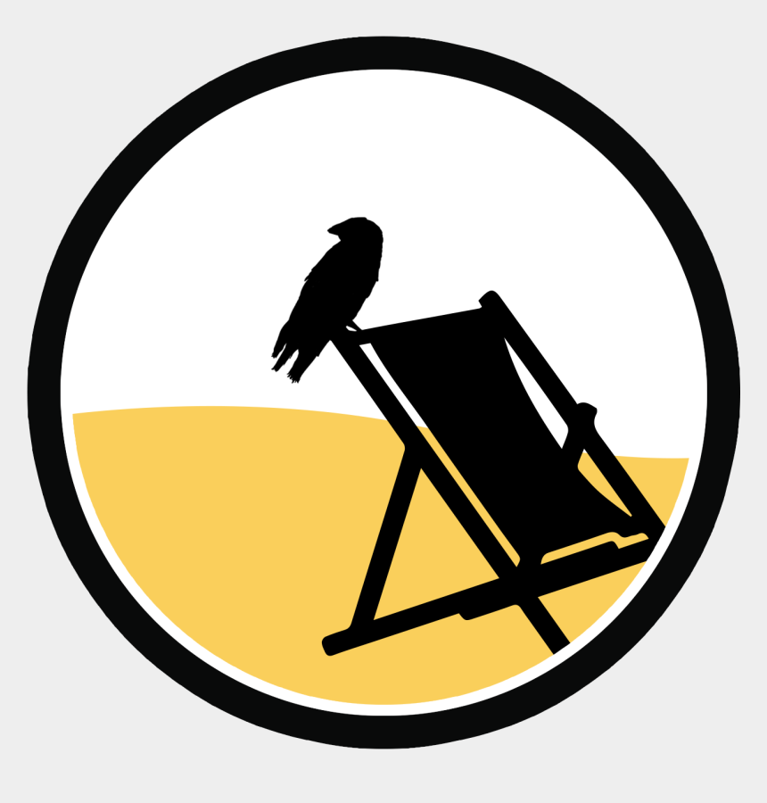 chair clip art, Cartoons - Raven Clip Art - Beach Chair Vector Png