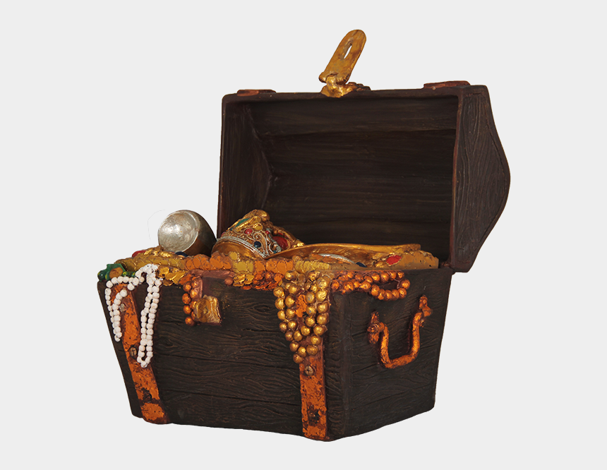 treasure chest clip art, Cartoons - Pirate Treasure Chest Png
