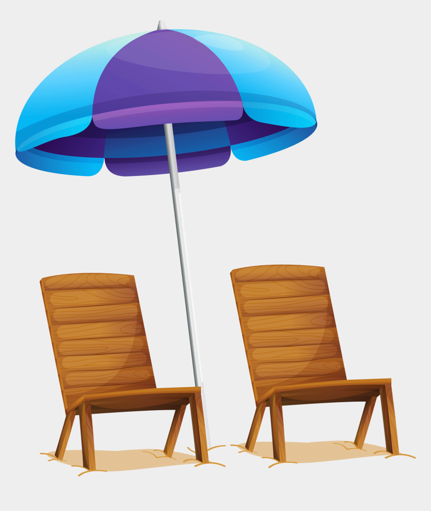 chair clip art, Cartoons - Umbrella Clip Lawn Chair - Transparent Background Beach Chair Png