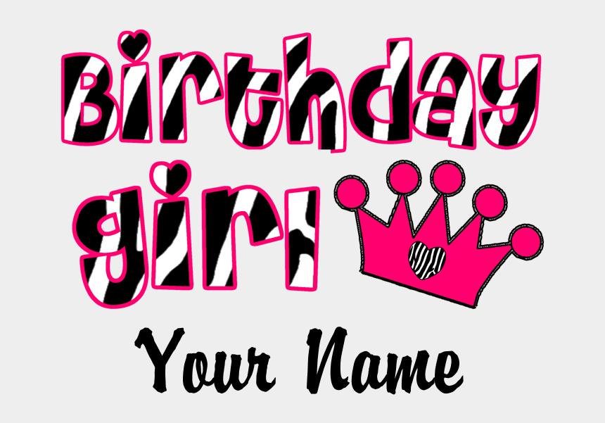 t-shirt clipart, Cartoons - Birthday Girl Png