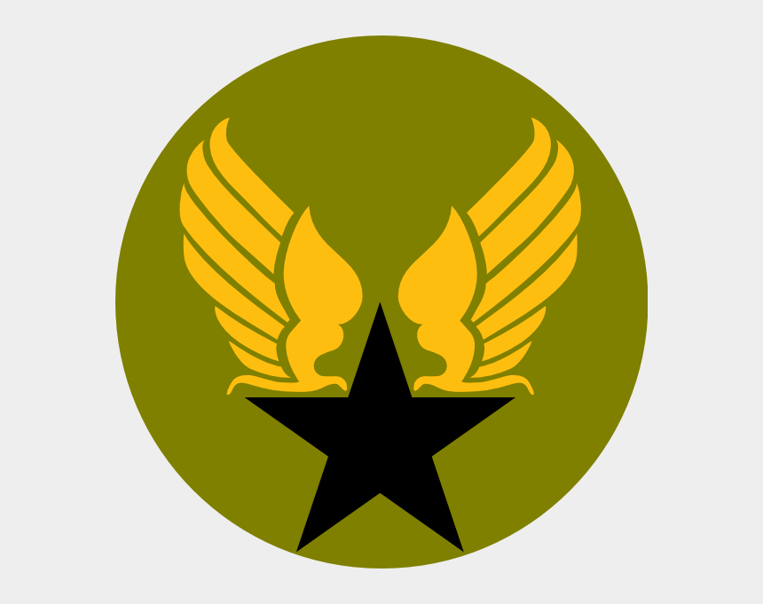 military clip art, Cartoons - United States Army Clipart - Hap Arnold Wings Tattoo