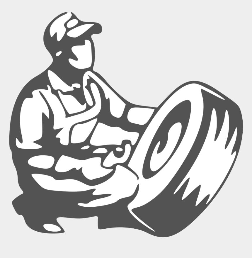 tire clip art, Cartoons - Car Body Repairs Dukinfield Alma Accidents Repair Ⓒ - Man With Tire Clipart