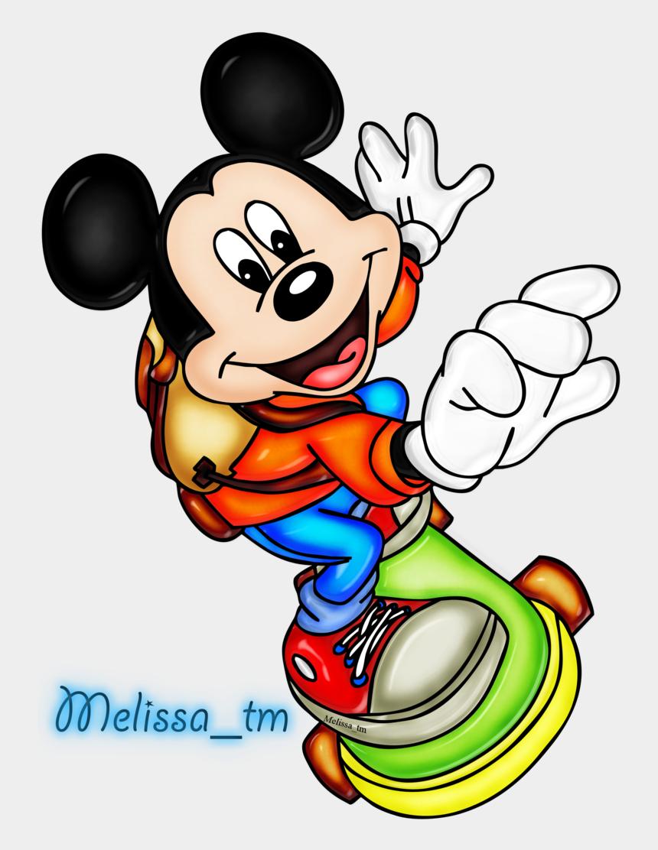 disney clip art, Cartoons - Mickey Mouse On Skateboard