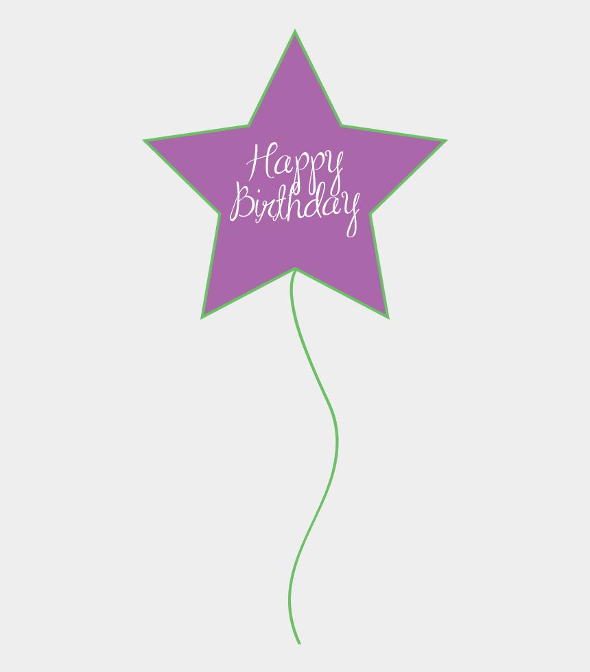 birthday balloons clip art, Cartoons - Happy Birthday Star Balloon - Happy Birthday Balloon Violet Clip Art