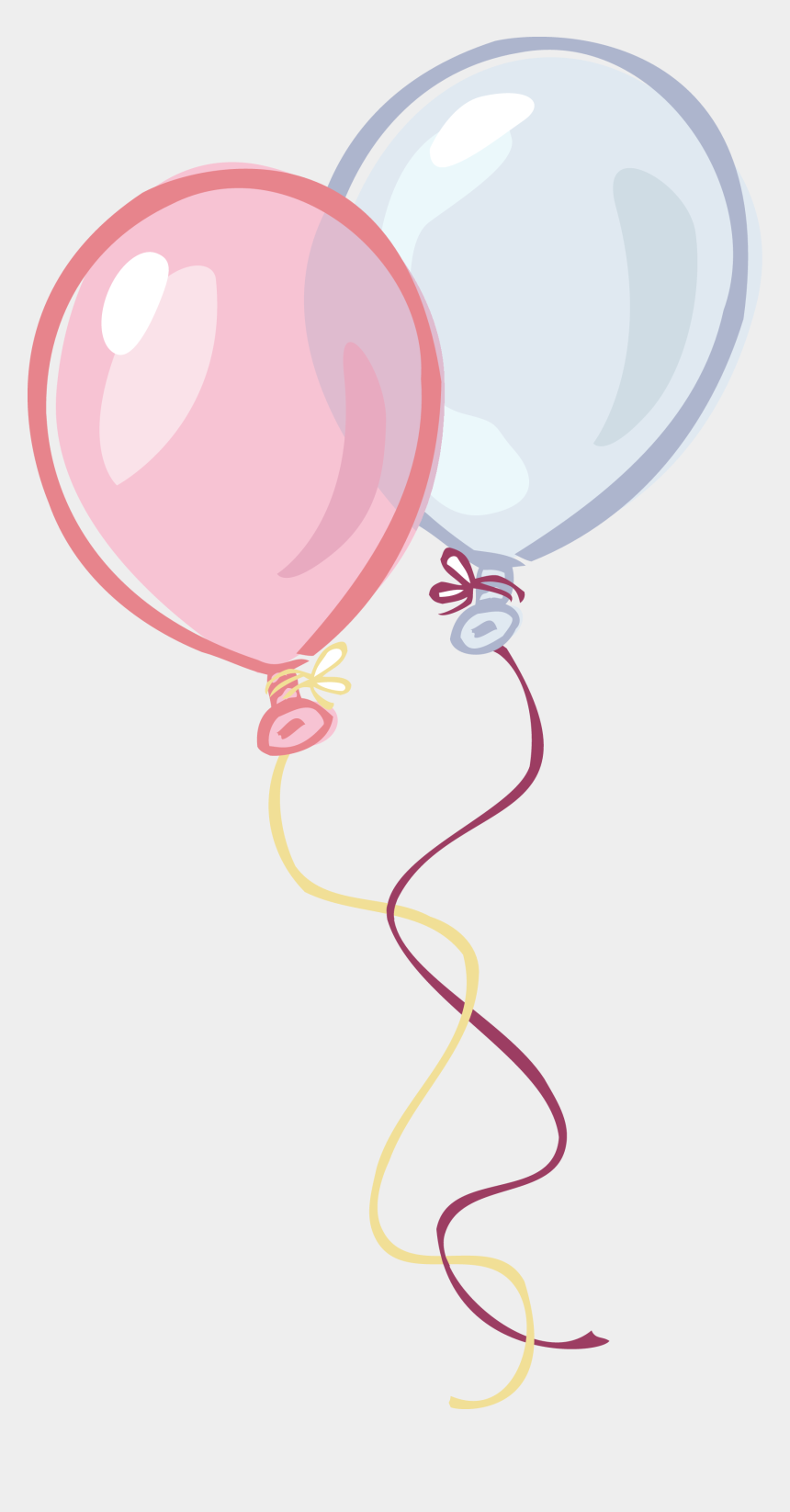 birthday balloons clip art, Cartoons - Pink And Blue Birthday - Cartoon Birthday Balloon Png